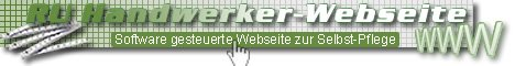 Internet software Handwerker website