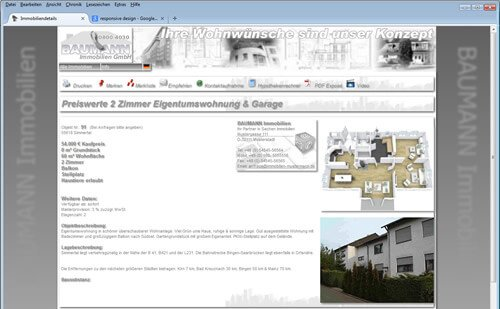 Online Immobiliendatenbank Website
