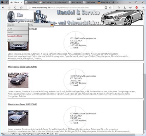Autohandel Website Software Webseite Für Autohändler