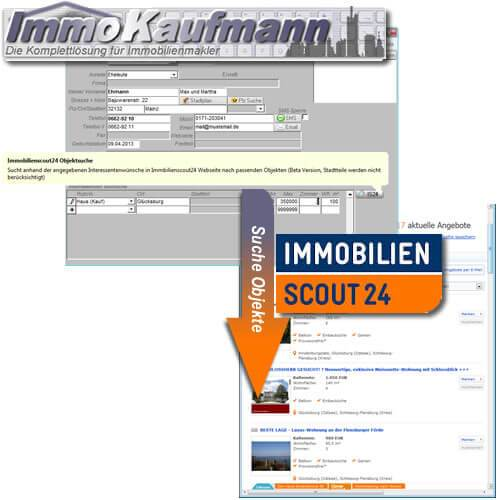 Datenübernahme ImmoScout24